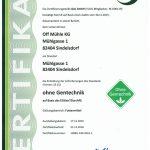 Gentechnikfrei-Zertifikat