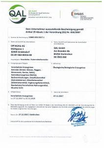 Bio Zertifikat 2018